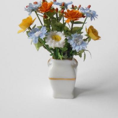 Bouquet bleu et orange