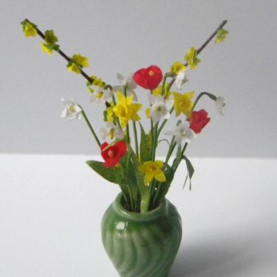 Jonquilles et tulipes