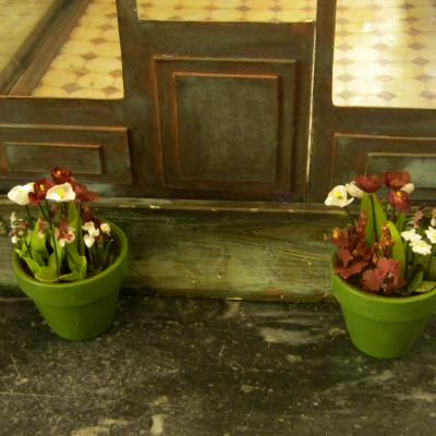 Paire de vases miniatures tulipes