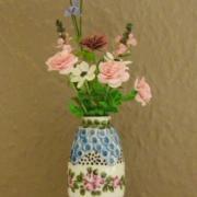 Vase bleu miniature